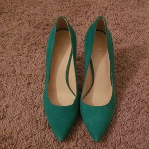 Suede Nine West Heels